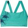 Patagonia W's Active Mesh Bra Waterflower Graphic: Howling Turquoise